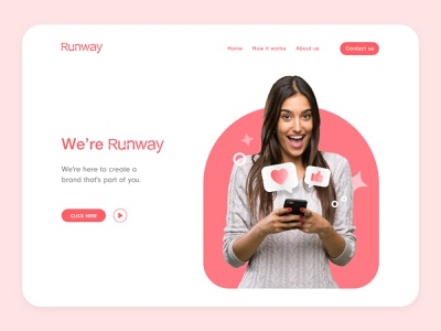 Design exploration for Runway website branding website marketing website social media landing page colours typogaphy branding website ui