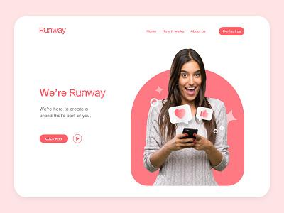 Design exploration for Runway website branding website marketing website social media landing page colours typogaphy branding website ui