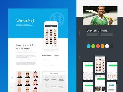 WarnieMoji Mobile App Case Study typogrphy cool colors website social app emoji shane warne portfolio case study mobile app design mobile app