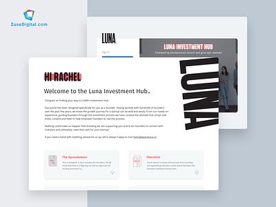 Luna Investment Portal startups startup website application webapp vc portal term sheet term investment investment portal minimal flat web app icon ux typography ui design