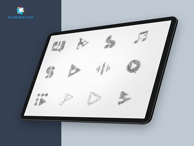 🎵Social Sound Logo web design user experience minimalism interface interaction ecommerce minimal flat web icon ux typography branding vector ui design illustration logodesign logotype logo