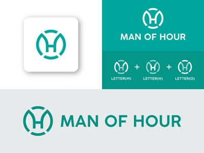 MAN OF HOUR LOGO DESIGN lettermarkexploration logo presentation minimal letterh lettero letterm flat business vector simple logo concept creative logo combination mark lettermark brand identity branding letterlogo hour of man