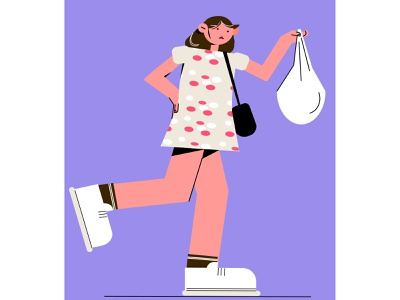 Monica design персонаж моника друзья девушка vector illustration
