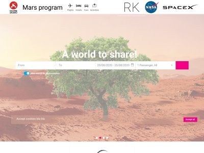 TIQUM mars program flight tickets site minimal web illustration typography logo icon graphic design design branding art
