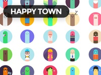 Free Character Set happy vector illustration cute funny character freebie free