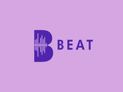 Day 9 of Daily Logo Challenge - music streaming logo beat music logo letter b dailylogochallenge dailylogo logo design
