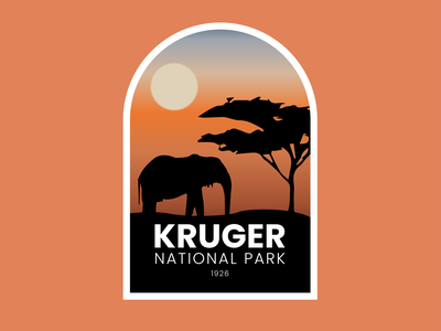 Day 20 of Daily Logo Challeng sunset africa safari elephant cloud lincoln pikake national park logo national park kruger logotype icon dailylogo vector dailylogochallenge logo design