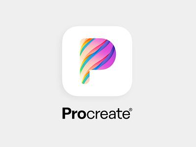 Procreate App Icon Redesign app icon get creative with procreate letterp typography logotype branding icon redesign appicon app procreate app procreatelogo procreateapp procreate logo design getcreativewithprocreate