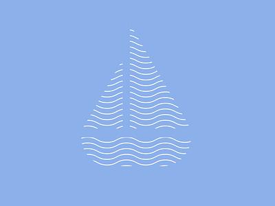 Day 23 of Daily Logo Challenge logotype branding vector icon dailylogochallenge dailylogo boat logo marine lines waves ship boat logo design