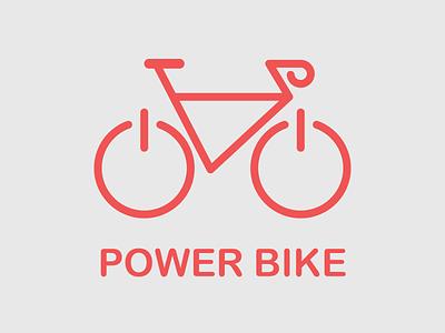 Day 24 of Daily Logo Challenge power bikeshop bicycle logo bicycle bike powerbike logotype branding dailylogo vector icon dailylogochallenge logo design