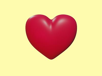 3D Heart valentine blender heart 3d heart 3d design