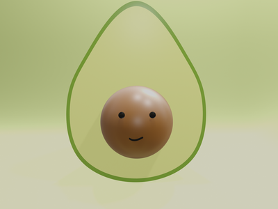 3D Avocado blender illustration avocado 3d illustration 3d avocado 3d design