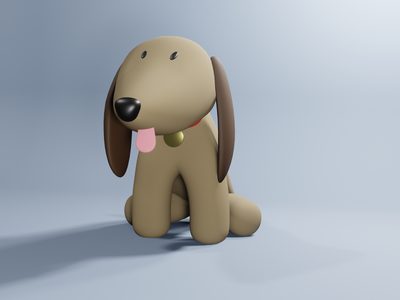 3D dog blender 3d illustration cute dog 3d dog 3d design