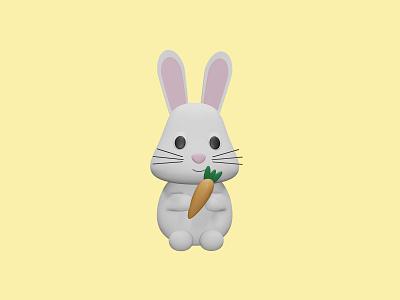 3D Bunny bunny easter bunny blender design 3d easter
