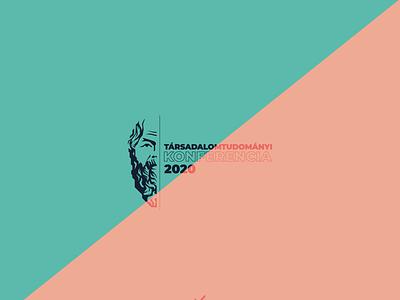 Társadalomtudományi Konferencia 2020 illustration vector logo design
