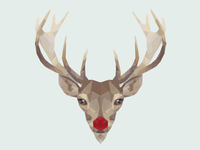 Simple poly reindeer