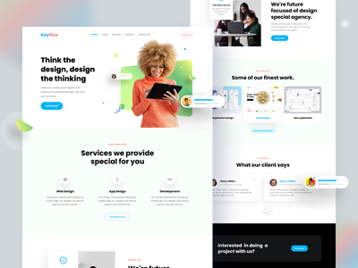 Digital Agency - Landing page trend trending trendy agency homepage website ux ui productdesign web ui clean ui creative creative agency design ux digital agency landing page minimal template web design