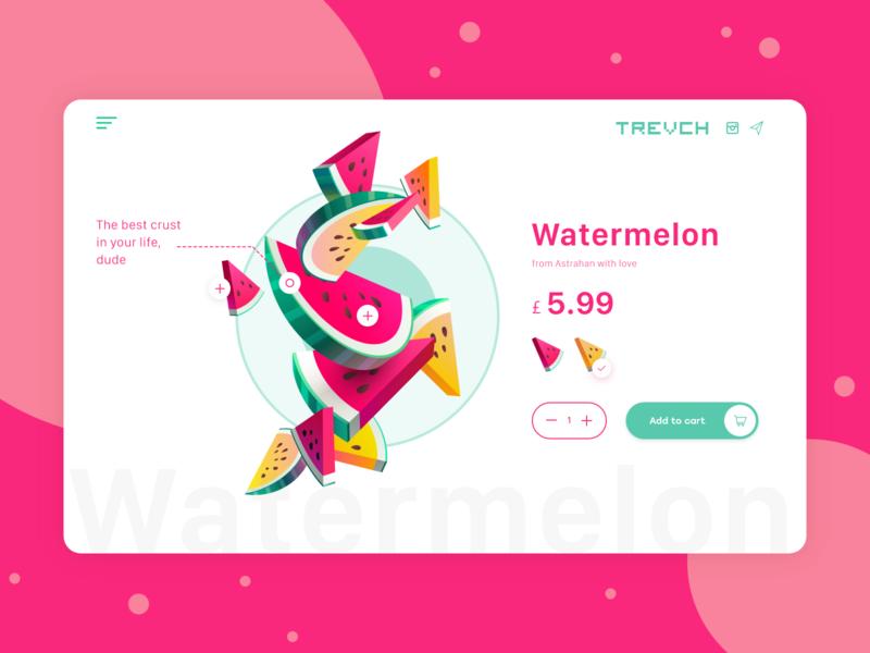 Watermelon store store ipad app design application app ux design ui