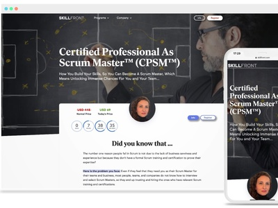 SkillFront Certified Professional As Scrum Master™ (CPSM™)