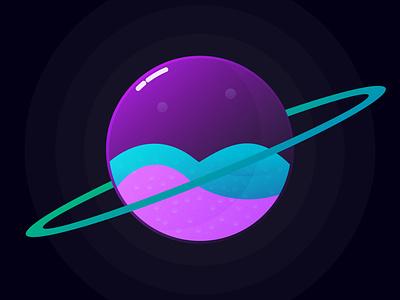 Tiny planet vector illustration beautiful planet vector art vector minimal illustrator illustration design
