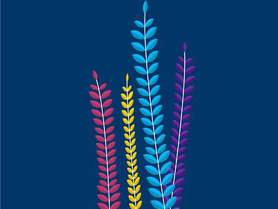 Colorful wheats flat nature artwork art beautiful vector illustration vector art vector minimal illustrator illustration design