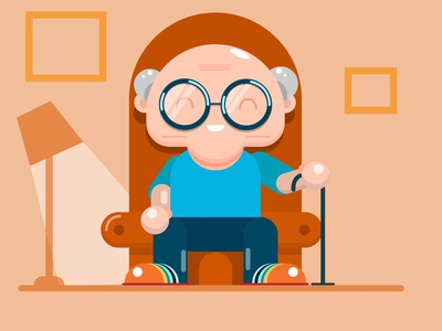Its time to relax old school elder old man artwork art beautiful design vector art vector vector illustration illustration illustrator
