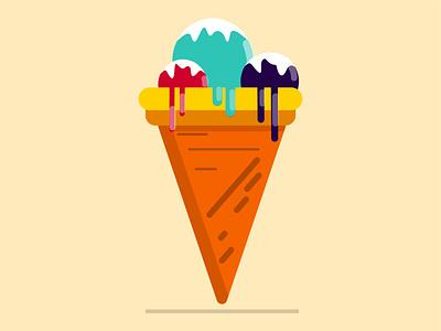 Ice cream food ice cream icecream artwork art beautiful design vector illustration vector art vector illustration illustrator