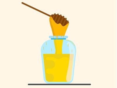 Hello ' honey' minimal glass bottle glass graphic design graphic honey bottle design artwork art bottle beautiful design vector illustration vector art vector illustration illustrator
