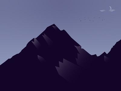 Mountain night moonlight moon mountain artwork art design beautiful vector illustration vector art vector illustration illustrator