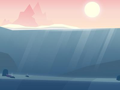 Underwater underwater water artwork art beautiful design vector illustration vector art vector illustrator illustration