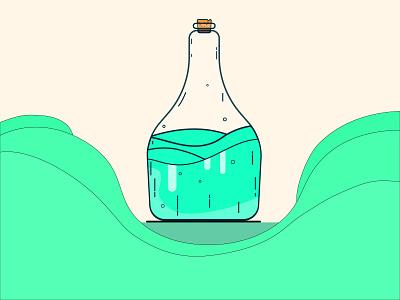 Its a good drink bottle design bottle glass bottle glass artwork art beautiful vector illustration vector art vector design illustration illustrator