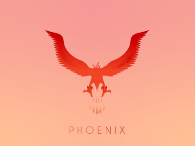 Phoenix logotype typography branding design mark bird phoenix logo phoenix branding logo vector illustration vector design illustration illustrator