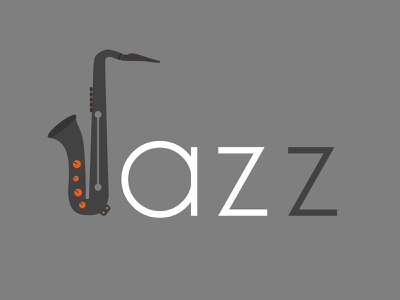 Jazz theme design 2 holidays ba2design holiday xmas jazz theme christmas identity theme saxophone jazz logotype typography icon branding mark logo artwork design illustration vector