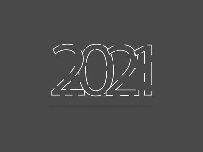 New year logotype line art icon ba2design monochrome 2021 trend trend graphic  design graphic monogram new year 2021 logotype art typography logo mark branding vector design illustration