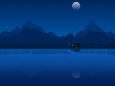 Moon light nature illustration nature ba2design moonlight night landscape design landscape wallpaper design background design artwork art branding vector art vector illustration beautiful illustrator vector illustration design