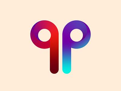 qp logo ux typography logotype brand design identity branding icon logo mark vector illustration beautiful illustrator vector design illustration