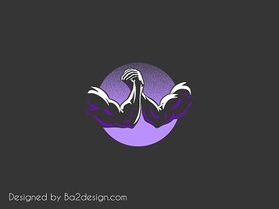 Brother in arms muscle identity grain texture gradient logo minimalist minimalist logo a logo brand brother arm brand identity logo design logotype logo mark vector art vector illustration illustrator design illustration