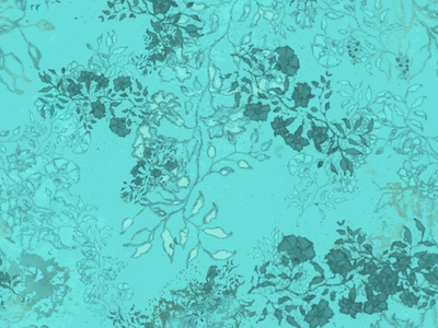 Teal green floral line art lineart petals leaf pattern seamless pattern home decor illustration flowers watercolor flowers botanical bedding fashion pattern design textile design teal