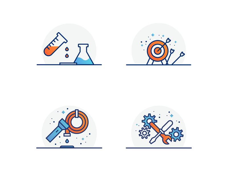 PSSI Spot Illustrations brand illustrator graphic design branding design chemical arrow sanitation set iconography icon illustration spot