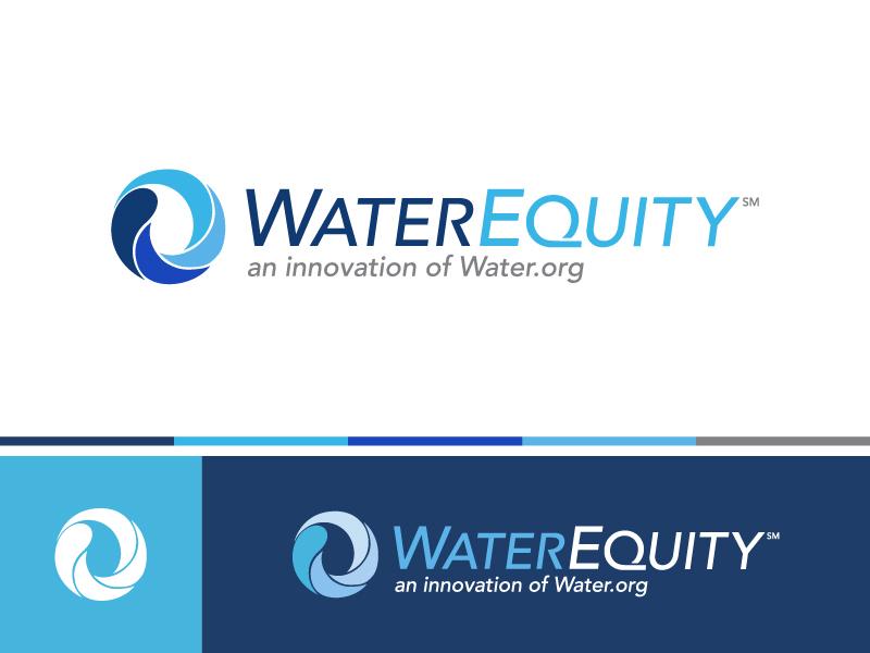 WaterEquity Logo waterdrop charity blue nonprofit water logo illustration brand graphic design concept design