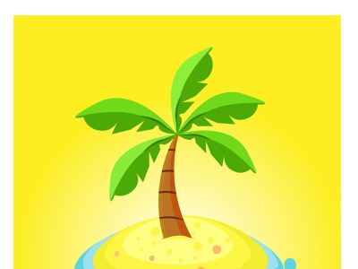 Palm tree graphic design logo icon animation illustration vector design