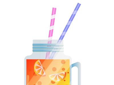 Lemonade art logo icon animation vector illustration design