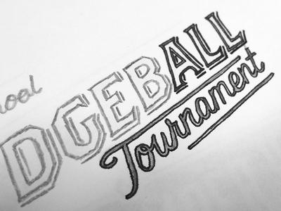 Dodgeball Tournament Sketch
