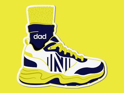 Nashville SC Dad Shoe Father's Day Patch soccer nashville sc nashville patch soccer badge badge illustration