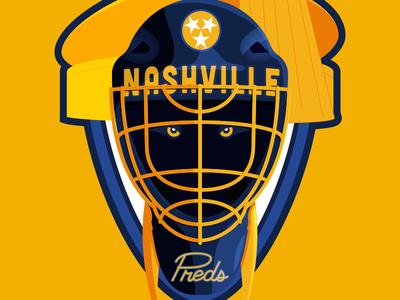Nashville Preds Soccer-Themed Badge