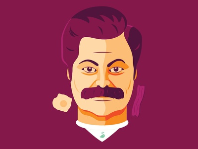 Swan Song (Ron Swanson) Soccer-Themed Badge all the bacon and eggs parks and recreation parks and rec swan song ron swanson soccer badge badge