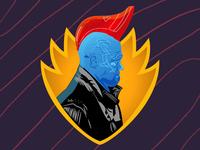 Yondu Soccer-Themed Badge