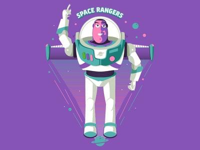Buzz Lightyear Soccer-Themed Badge