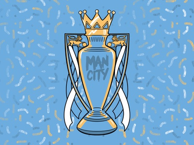 Man City Champions Soccer-Themed Badge