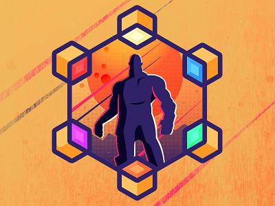 Thanos Soccer-Themed Badge avengers thanos badge soccer badge